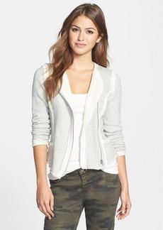 Lucky Brand Raw Edge Cotton Knit Jacket