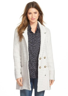 Lucky Brand Ribbed Sweater Coat