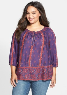 Lucky Brand 'Rosie' Print Top (Plus Size)