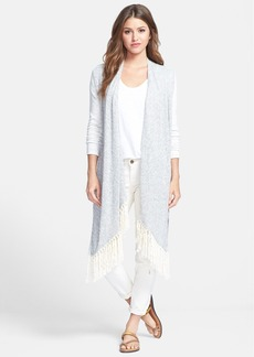 Lucky Brand 'Ryleigh' Mixed Media High-Low Cardigan