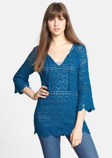 Lucky Brand 'Sapphire' Crochet Tunic