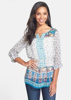 Lucky Brand 'Savannah Gypsy' Print Peasant Top