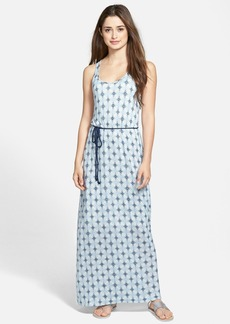 Lucky Brand 'Shibori Diamonds' Sleeveless Maxi Dress