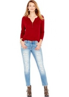 Lucky Brand Sienna Ripped Cigarette Skinny Jeans, San Marcos Wash