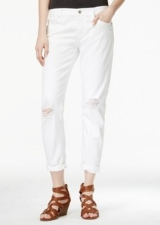 Lucky Brand Sienna Slim Ripped White Wash Boyfriend Jeans