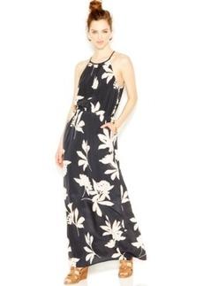 Lucky Brand Silk Floral-Print Halter Dress