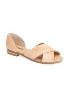 Lucky Brand 'Silla' Leather Cross Strap Sandal (Women)