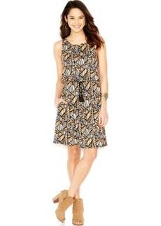 Lucky Brand Sleeveless Floral-Print Dress