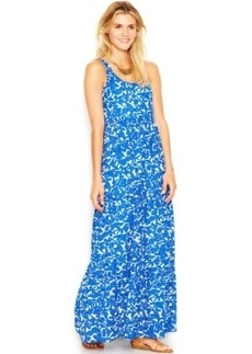 Lucky Brand Sleeveless Floral-Print Maxi Dress