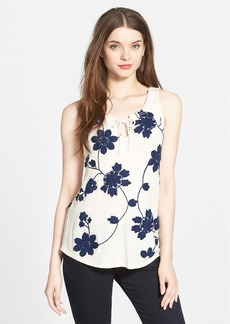Lucky Brand Soutache Embroidered Tank
