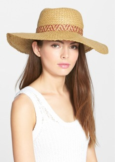 Lucky Brand Square Weave Straw Hat