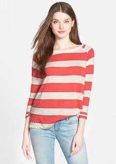 Lucky Brand Stripe Raglan Sleeve Top