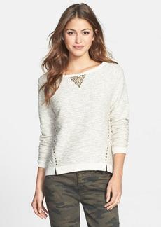 Lucky Brand Studded Metallic Pullover