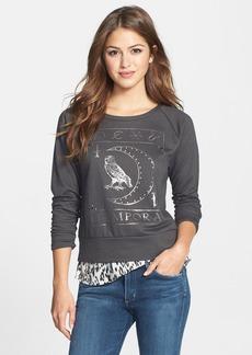 Lucky Brand Studded Owl Pullover