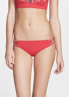Lucky Brand Swimwear 'French Tapestry' Embroidered Hipster Bikini Bottoms