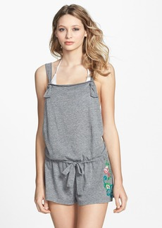 Lucky Brand Swimwear 'French Tapestry' Embroidered Twist Back Romper