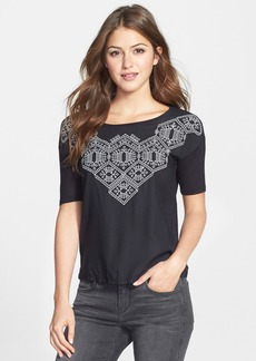 Lucky Brand 'Sydney' Embroidered Jersey Top