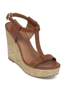 Lucky Brand T-Strap Platform Wedge Sandals - Lovell