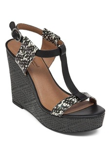 Lucky Brand T-Strap Platform Wedge Sandals - Lovell Printed