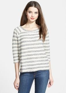 Lucky Brand Textured Stripe Raglan Sleeve Top