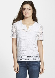 Lucky Brand White Eyelet Top