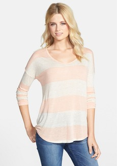 Lucky Brand Wide Stripe V-Neck Top