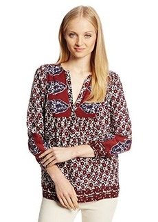Lucky Brand Women's Annabelle Mixed Print Top