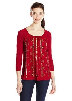 Lucky Brand Women's Beaded Top