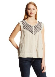 Lucky Brand Women's Beaumont Embroidered Top