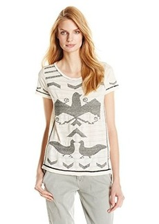 Lucky Brand Women's Blanket Stitch Top
