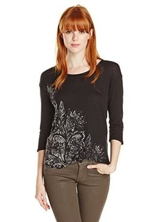 Lucky Brand Women's Blooming Woodcut Tee