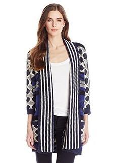 Lucky Brand Women's Bold Intarsia Sweater