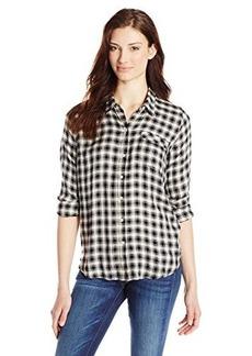Lucky Brand Women's Boyfriend Flannel Shirt