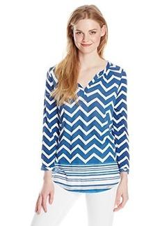 Lucky Brand Women's Chevron Stripe Henley