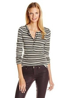 Lucky Brand Women's Chloe Stripe Thermal Top