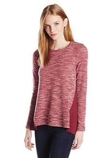 Lucky Brand Women's Contrast Textured Top