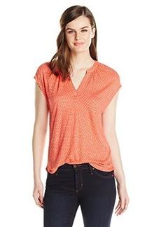 Lucky Brand Women's Coral Dot Top