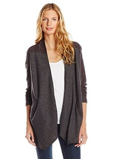 Lucky Brand Women's Crochet Mix Wrap Jacket