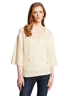 Lucky Brand Women's Crochet Peasant Sweater