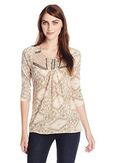 Lucky Brand Women's Diamond Ikat Top