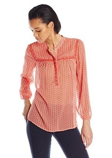 Lucky Brand Women's Ditzy Peasant Top