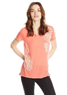 Lucky Brand Women's Double Flower Tee