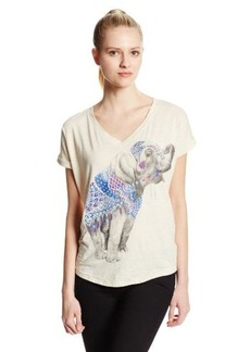 Lucky Brand Women's Elephant Circle Tee