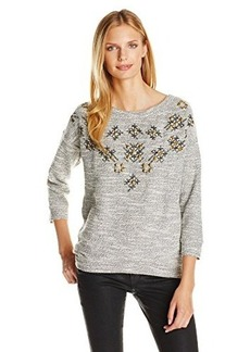 Lucky Brand Women's Embellished Pullover