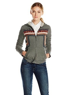 Lucky Brand Women's Embroidered Hoodie Jacket