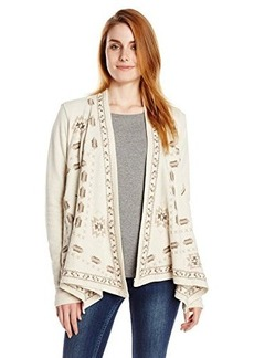 Lucky Brand Women's Embroidered Wrap Jacket