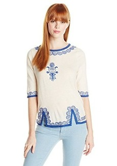 Lucky Brand Women's Ethnic Trim Top