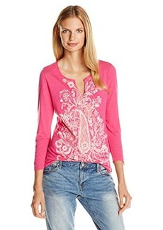 Lucky Brand Women's Exploded Paisley Tee