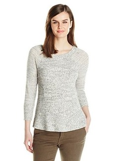 Lucky Brand Women's Fabric Mixed Pullover