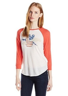 Lucky Brand Women's Fender Rock Raglan Tee